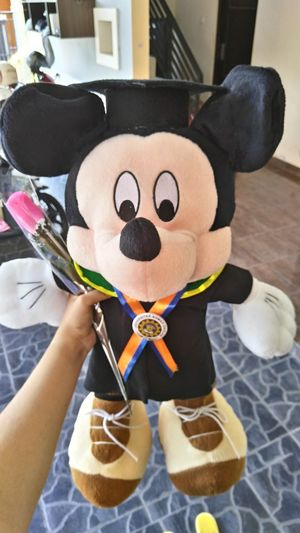 Thank you 🎓 Adults Only One Person Human Body Part Holding Close-up Graduation 2016 Eeyemstory INDONESIA Happiness High Angle View Focus On Foreground Thank You ❤ Bestoftheday Nature AndroidPhotography EyeEmtoday Graduation Day!!!  Bachelorlife Photooftheday Psychology Day LenovoVibeZ Mickey Mouse Disney