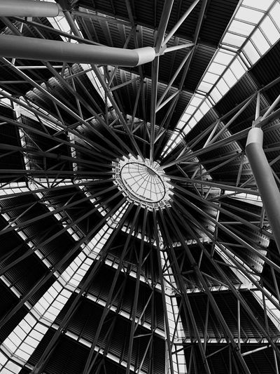 Foundation. Lines Symmetry Beams Klcc Bnw Architecture Low Angle View Indoors  Full Frame No People Day