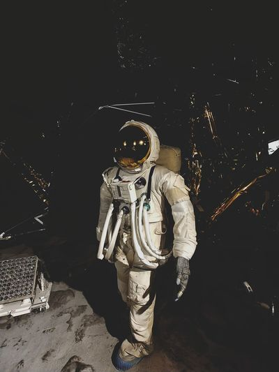 Space Suit Space Space Helmet Futuristic Astronomy Headwear Standing Full Length Technology Astronaut