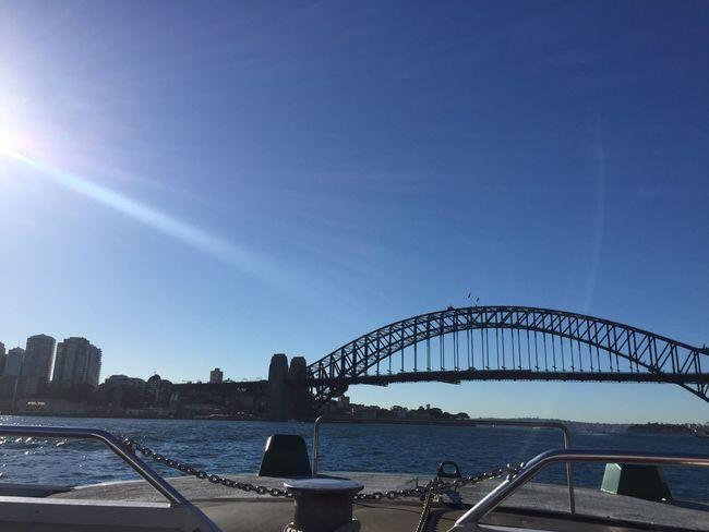 I'm On A Boat Harbour Bridge Sydney Harbour Bridge Sydney, Australia Water Boat Tourist
