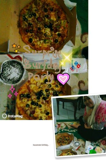 surprise birthday party for housemate...may Alah bless you,amirah~