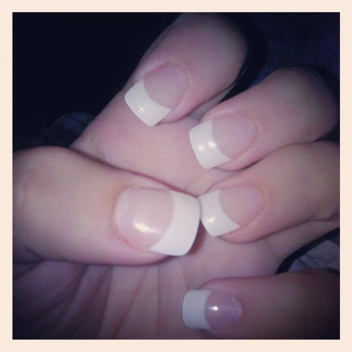 Nails <3 Mknails Frenchtips Nailsdone Maniwiththebestie pretty