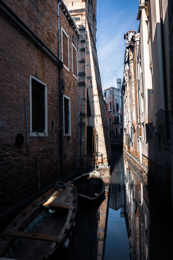 Canal amidst buildings in city
