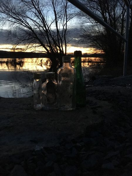 Sonnenuntergang Alte Flaschen First Eyeem Photo