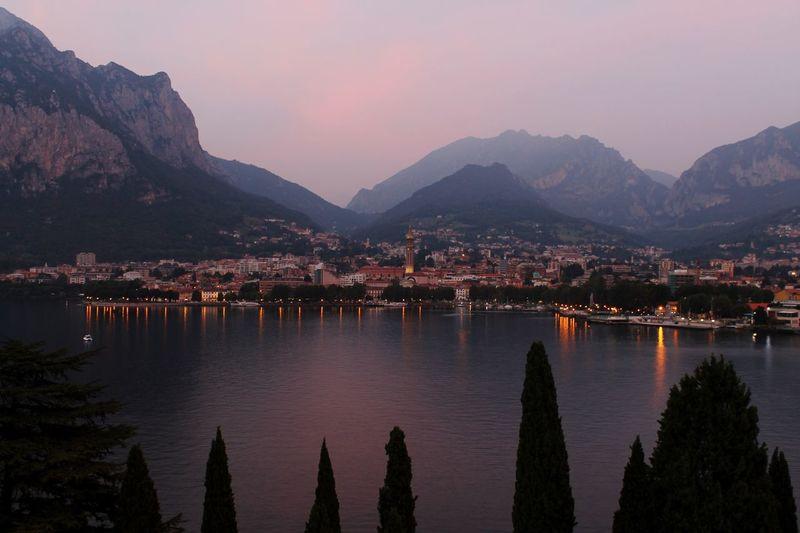 Italy Mountain Sunset Water Sky Nature Lecco Lecco Lake Como Lake Lombardia Nord Lake