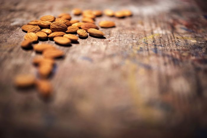 Almonds Fats Lipids Selective Focus No People Indoors  Table Food Close-up StillLife Nature Healthy Eating Food And Drink Fats Health Ketogenic