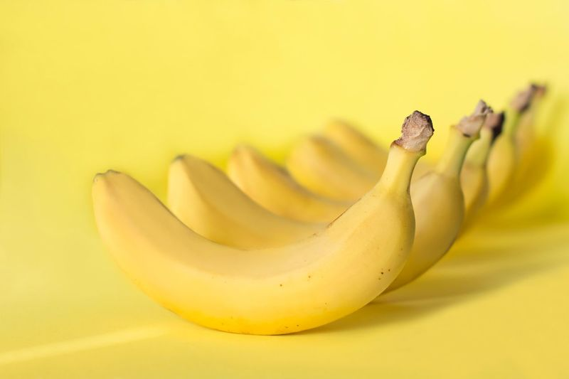 Bananas in a row on yellow background Individuality Summertime Monocrome Monochromatic One Color Minimalism Design Sweet Food Tropical Raw Food Vegan Food Vitamin Healthy Food Healthy Eating Organic Dieting Creativity Yellow Banana Healthy Eating Yellow Background Fruit Freshness Studio Shot Wellbeing Tropical Fruit Vibrant Color Healthy Lifestyle Ripe Close-up The Minimalist - 2019 EyeEm Awards The Foodie - 2019 EyeEm Awards