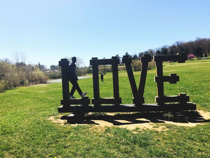 Landscape Clear Sky Grass Field Outdoors Sky Day One Person EyeEmNewHere Grass Signs Luray Virginia Is For Lovers Love ♥