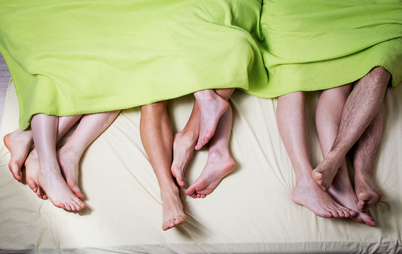 Adult Adults Only Barefoot Bed Bed Vibes Bedroom Couple - Relationship Heterosexual Couple Human Body Part Human Foot Human Leg Indoors  Laying Pedicure People Real People Relaxation Sleep Togetherness