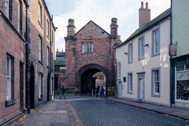 Cumbria England UK Arch Architecture Building Exterior City Day Historic Old Buildings Outdoors Small Town Life Street