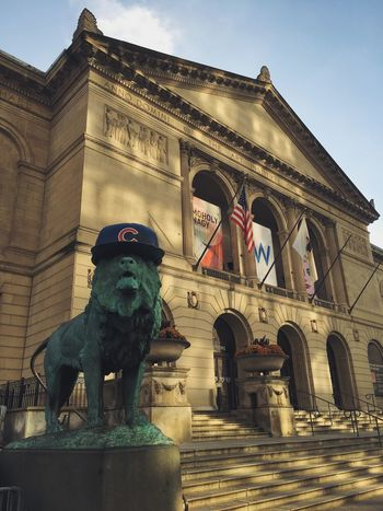 cubs win! cubs win! Go Cubs Go Chicago Chicago Cubs Cubs  World Series World Series 2016 Flythew Wrigley Wrigleyville Wrigley Field Art Institute Of Chicago Michigan Avenue Baseball Sports Adapted To The City