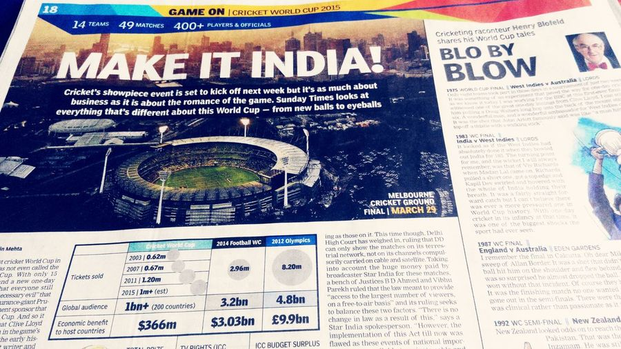 Cricket Fever Is ONN Icc2015 CricketWorldCup 2015 🔥 India Religion MissSachin Hello World MSDhoni Viratkohli #Kicksoff #Excited