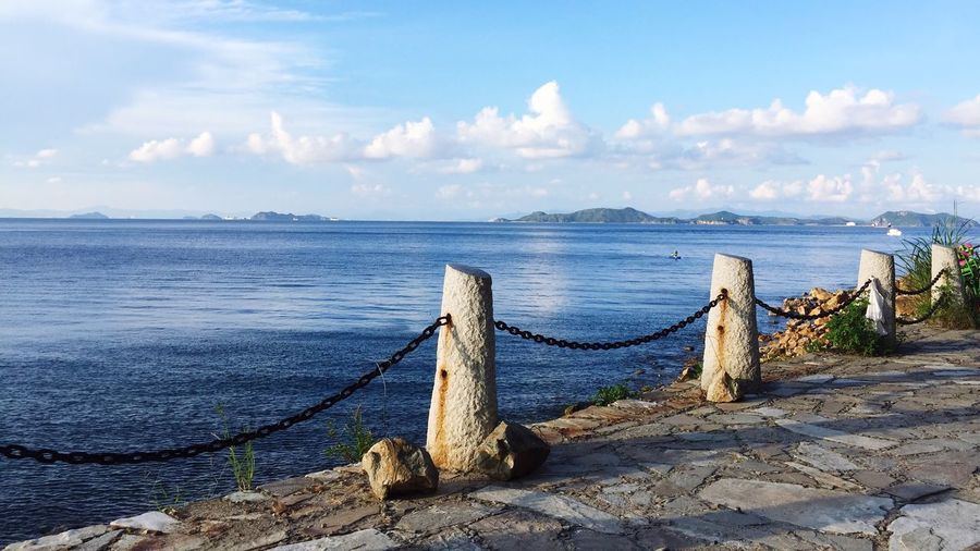 seaside,shenzhen Sea Tranquil Scene Outdoors Tranquility Water Beauty In Nature China View Taking Photos Leisure Activity Nature Lifestyles Clear Sky Dapeng Beach