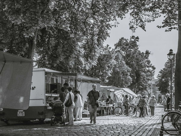 Street Market in may 2014 FujiFilm X20 Brandenburg EyeEm Best Shots - Black + White