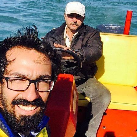 Seagrandpa MeAndMe YellowSea Redboat اين پيرمرد لحظه هاي خوشي رو برام رقم زد هيجاني كه چند وقت بود تجربه نكرده بودم مرسييييي پيرمرد