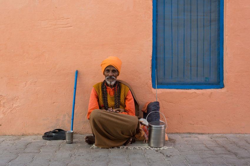 ASIA Cultures India People Portrait Rishikesh Sadhu Traditional Clothing