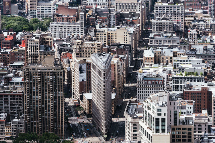 High angle view of Manhattan New York America City Manhattan Aerial View Top High Angle View Building Exterior Architecture Built Structure Skyscraper Office Building Exterior Cityscape Building Day Outdoors Rooftop Skyline Cityscape Residential District Crowd Crowded City Life Travel Destinations Tower Development Modern Apartment Urban Sprawl
