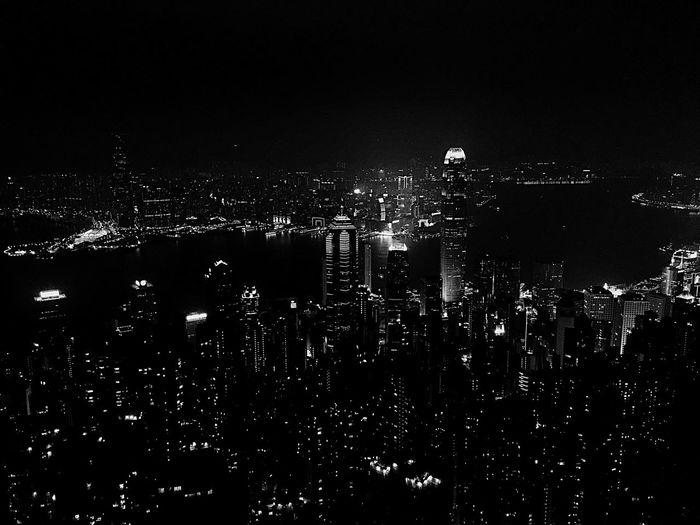 HongKong Night Cityscape Building Exterior No People Travel Destinations Vlada