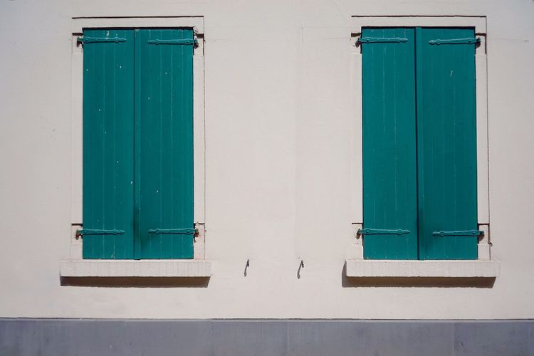 Shutter Green Color No People Architecture Building Exterior Window Day Built Structure Outdoors Close-up Closed Wall - Building Feature Backgrounds Building Protection