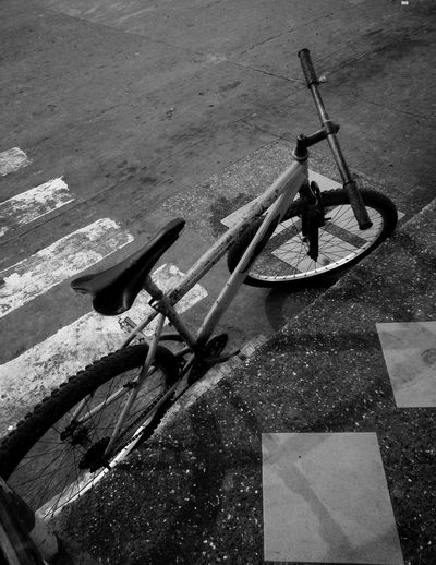 High Angle View Outdoors No People Philippines EyeEm Gallery Eyeem Philippines EyeEm Selects Bicycle Blackandwhite Shadow PhonePhotography Wheel Phonephotograpy Old-fashioned EyeEm Lifestyles Huaweigr52017 Photography Themes