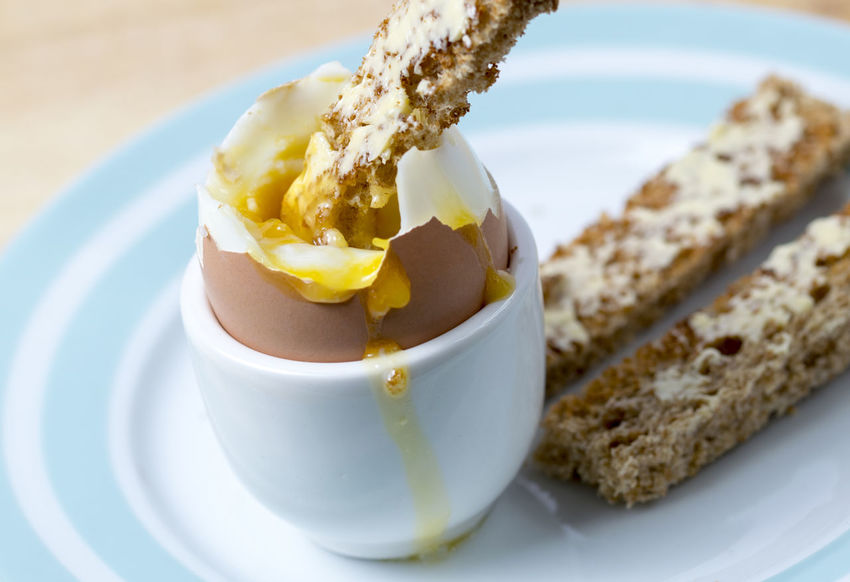 Boiled Egg and Toast Bread Breakfast Close-up Day Eat Egg Focus On Foreground Food Food And Drink Freshness Healthy Eating Indoors  No People Nutrition Plate Ready-to-eat Recipe Serving Size Soldiers Table Temptation Toasted Bread Toast🍞 Yolk
