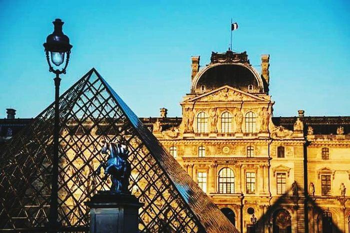Architecture Travel Destinations Clear Sky Outdoors Building Exterior Built Structure Louvre, France Louvre, Paris. Louvrepyramid City No People Louvre