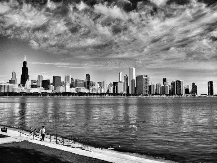 Chicago, Illinois Eye4photography  Black And White Blackandwhite NEM Black&white EyeEm Best Shots - Black + White Black & White Black&white Editorial  Taking Pictures Clouds Clouds And Sky Chicago Illinois Landscape_Collection Chicago Architecture Chicago Chicago Skyline America Landscape Cityscape Landmark Lakefront Sheddaquarium Cityscapes Landscapes City Life