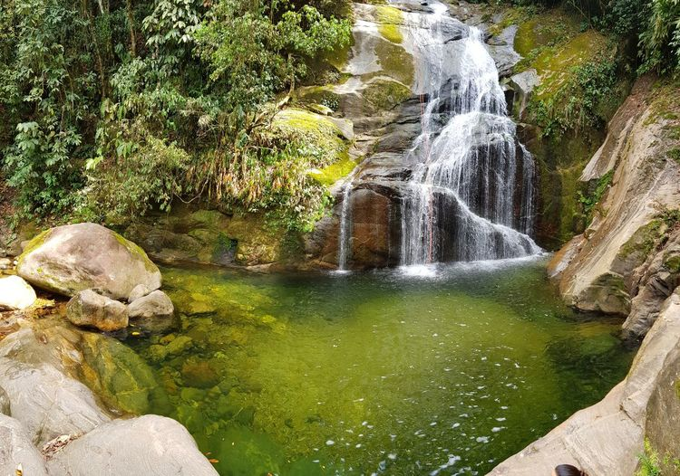 Water Nature Day No People Outdoors Beauty In Nature Tranquility Close-up Waterfall Nature Colection Landscape Scenics Mountain Adventure Freshness Colors Green