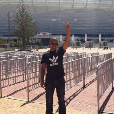 My insane friend already at the Capetownstadium for Rapture2014 Eminem whoop whoop