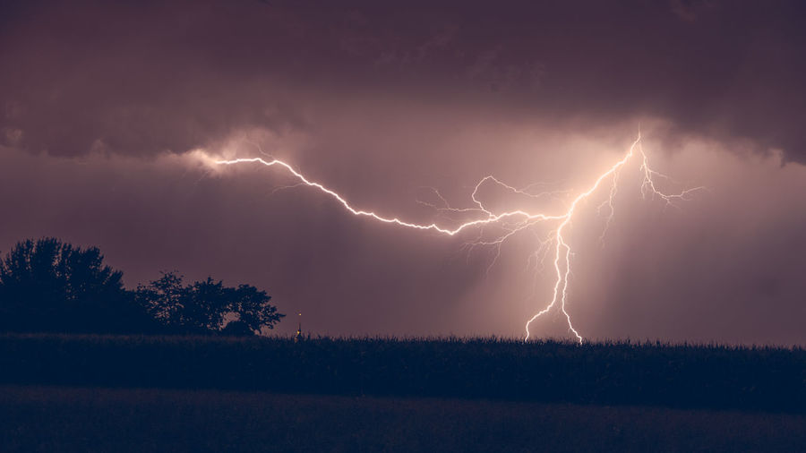 Today... Thunderstorm Lightning Lightning Storm Chemnitz Pentax Germany Weather Photography Dramatic Sky Storm Cloud Field Power In Nature Klaquax@home
