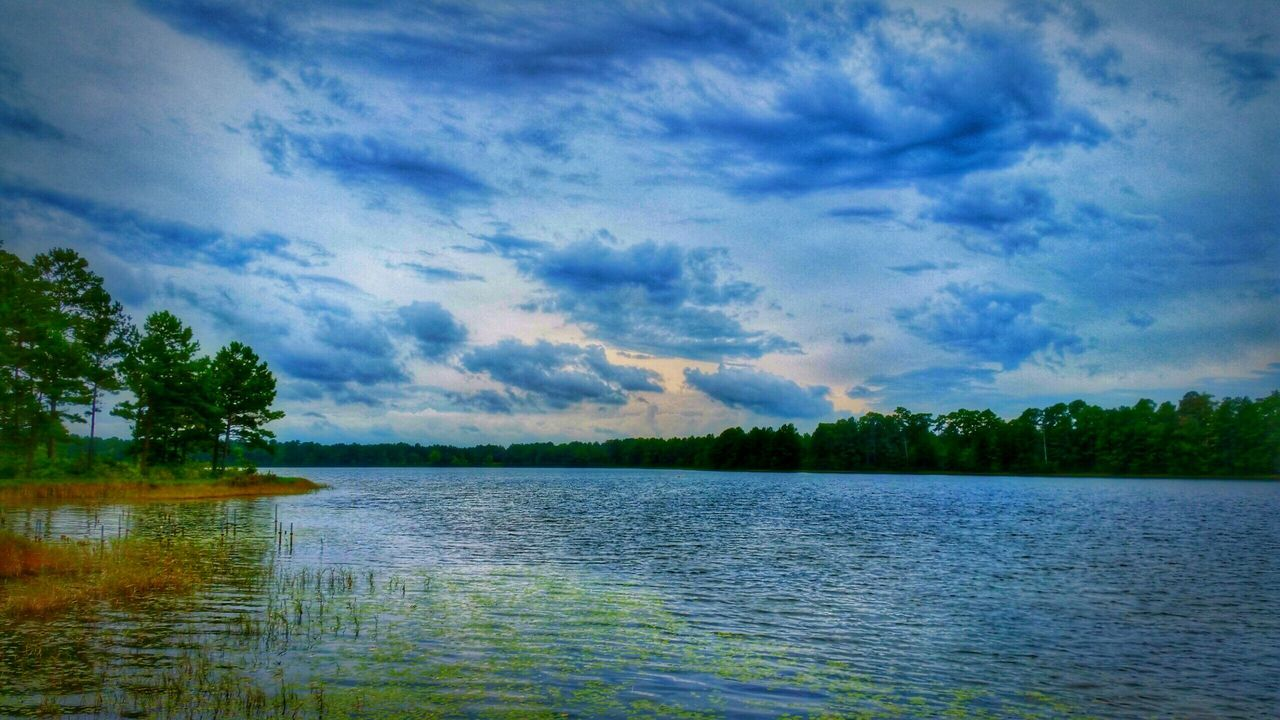 nature, scenics, lake, beauty in nature, water, tranquility, tranquil scene, sky, cloud - sky, no people, tree, outdoors, landscape, day