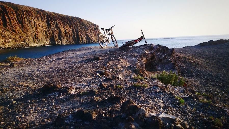 Los Cristianos, Canarias La Vista Del Mar Relaxing Moments Bicicletas Cielo Azul Atlantic Ocean Sea Beach Water Sunset Sunlight Fisherman Horizon Over Water Landscape