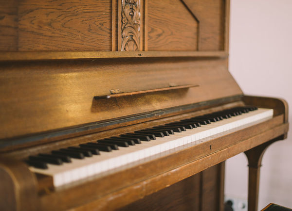 Vintage piano in a street cafe Arts Culture And Entertainment Classical Music Close-up Indoors  Music Musical Instrument No People Piano Piano Key Vintage Piano Wood - Material First Eyeem Photo