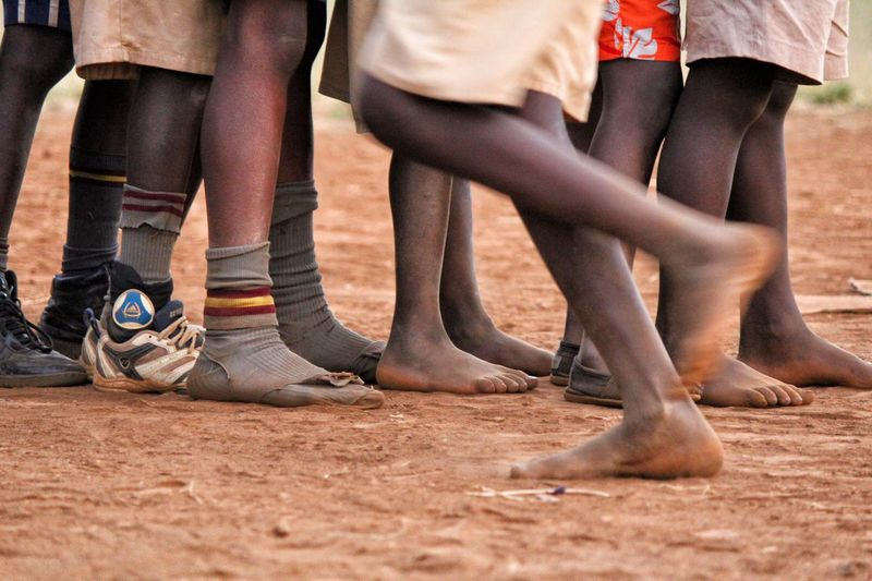 Feet Feet On The Ground Africa Child Canonphotography Children Play Kenya Nairobi Rugby Children Photography Childhood Playing Kibera