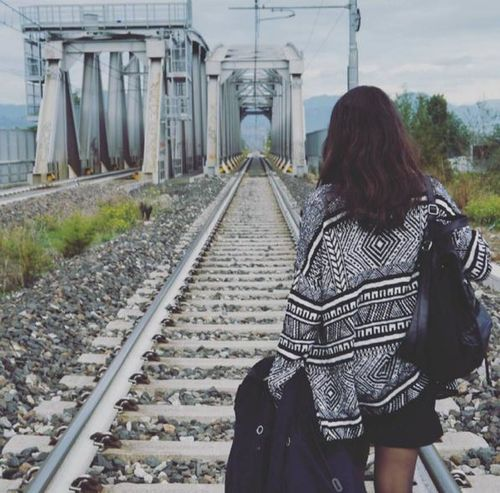 My favourite human Bestfriend Lifestyles Outdoors Railroad Track The Portraitist - 2017 EyeEm Awards The Way Forward Women Young Adult
