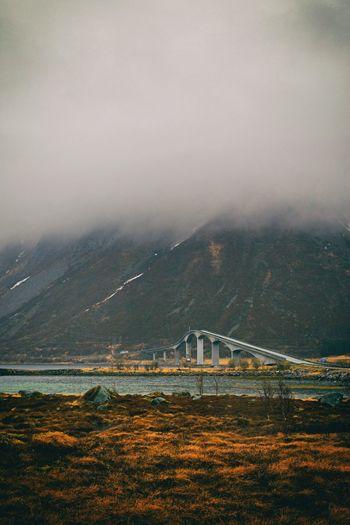 Bridge Bridge - Man Made Structure Nature Nature_collection Beauty In Nature Lofoten Lofoten Islands Norway Mountain Range City Mountain Fog Road Cityscape Sea Landscape Elevated Road Overpass