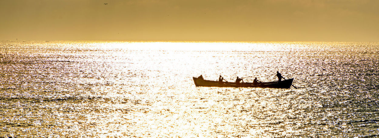 Costineşti, Romania Adventure Beauty In Nature Day Gold Colored Horizon Over Water Nature Nautical Vessel No People Outdoors Sailing Sailing Ship Scenics Sea Silhouette Sky Sunlight Sunset Tranquility Transportation Travel Travel Destinations Vacations Water Yacht