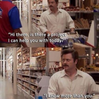Love Nickofferman Ronswanson Lowes