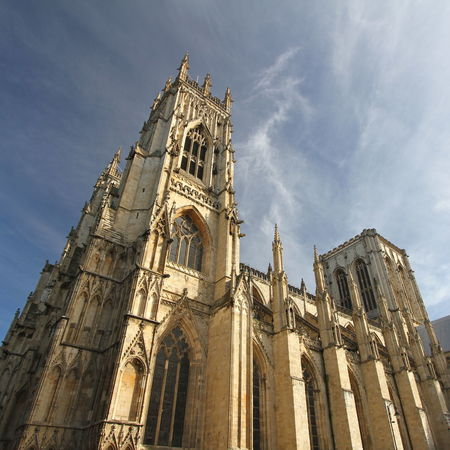 Architecture Building Exterior Built Structure Cathedral Cultures Day Gothic Low Angle View No People Outdoors Place Of Worship Religion Sky Spirituality Tourism Travel Destinations York Minster