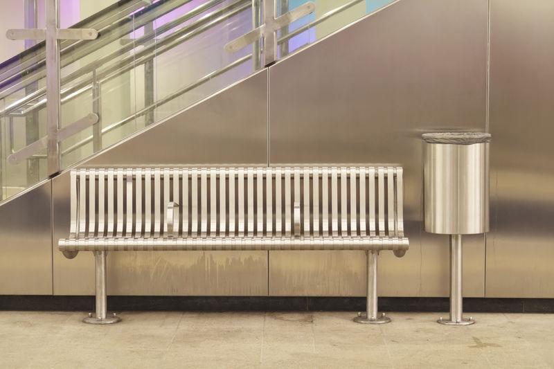 Metro station metal elements
