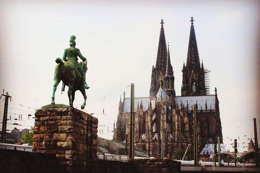 Architecture Statue Sculpture Built Structure Building Exterior Travel Destinations Human Representation Sky Tourism City Outdoors Day No People Cathedral Cologne Cologne , Köln,  Cologne Cathedral Köln Koeln Germany Travel Traveling Travel Photography