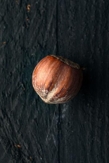 High angle view of shell on table