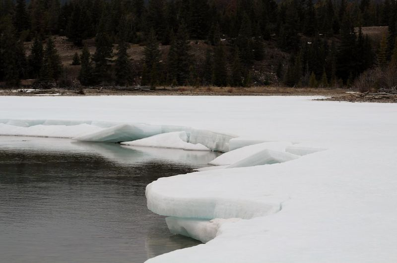 Beauty in Nature - Part 4 Ice Melting Melting Snow Nature Snow ❄ Tranquility Beauty Beauty In Nature Canada Cold Cold Temperature No People Outdoors No People 😇😇😇 Tranquil Scene Water