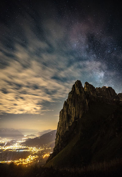 Astronomy Beauty In Nature Formation Galaxy Idyllic Milky Way Mountain Mountain Peak Mountain Range Nature Night No People Non-urban Scene Rock Rock - Object Scenics - Nature Sky Solid Space Space And Astronomy Star Star - Space Star Field Tranquil Scene Tranquility