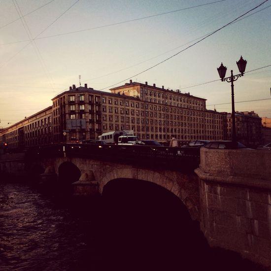 Fontanka Walking River Evening