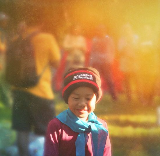 Kakang Childhood Child Boys Offspring Men Males  Hat Front View People Looking Innocence Warm Clothing Emotion Headshot Multi Colored Focus On Foreground Nature Waist Up Clothing Outdoors