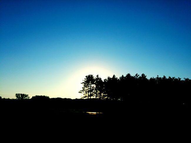Blue sky sunrise... Taking Photos Enjoying Life Radiance Ilovesunrisesandsunsets Godsbeauty Sunrisestalker Outdoors Nature Sky Sunrise Blue Wave