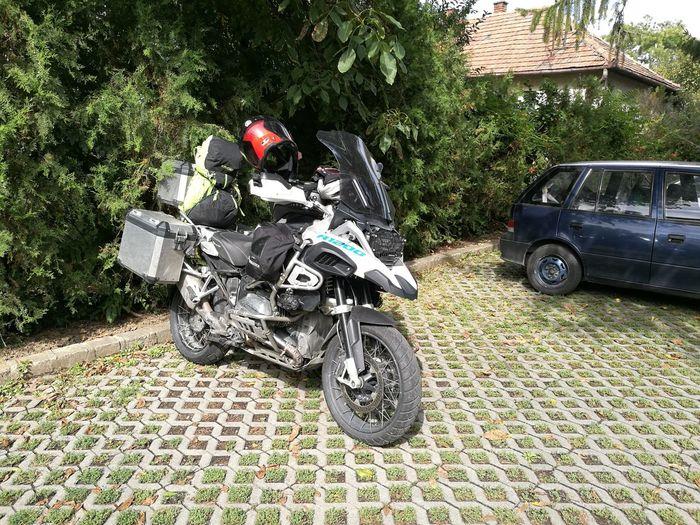 Motorcycle Adventure Touring Tree Land Vehicle Car Biker Parking Motorbike