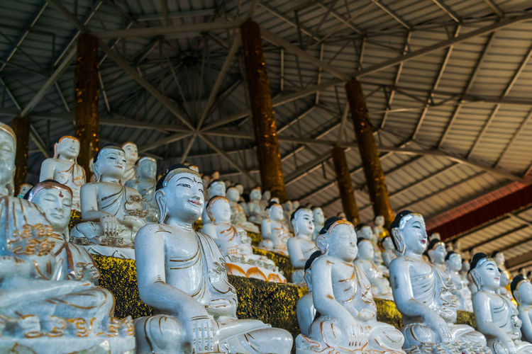 View of buddha statues in temple