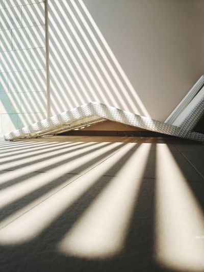Sunlight falling on floor in room